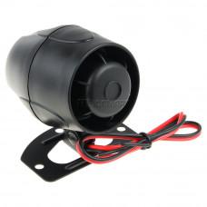 Cирена неавтономная SPD 1-8 H Неавтономная универсальная электродинамическая сирена. Номинальное напряжение питания - 12 В. Интервал питающих напряжений - 6-15 В. Ток потребления - 1,2 А. Входная мощность - 25 Вт. Звуковое давление на расстоянии 1 м