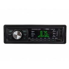 Головное устройство AurA AMH-110G USB/SD ресивер. 4х36W. Вход AUX 3,5 мм джек. Линейный выход RCA.  Несъемная панель. Красная подсветка. LED дисплей. ISO разъем