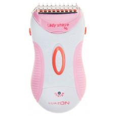 Эпилятор LUAZON LBR-02, АКБ 600 мАч, 1 лезвие, бело-розовая 1139830 1139830