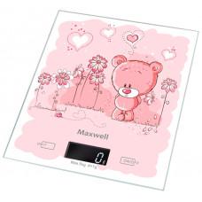Весы MAXWELL MW-1477 кухонные 5кг.,стекл корпус,тарокрмпенсация, автовыкл| 12мес
