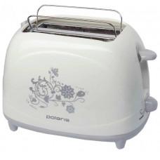 Тостер POLARIS PET 0708 Floris бел 750Вт.,2 слота, 7 режимов,решетка д/булочек,поддон|12 мес