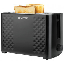 Тостер VITEK VT-1586 ЧЕРНЫЙ 800Вт, поддон д/крошек, регулировка степени поджарки|12мес