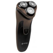 Электробритва VITEK VT-8267 бритье сухое, 3 бритвенные головки,  время автономной работы 45 мин, время зарядки 8 ч, триммер