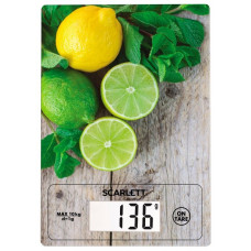 Весы кухонныеSCARLETT SC-KS57P21 10кг,погрешность 1г,сброс веса тары.измерение объема жидкости