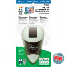 Чистящий портативный набор ColorWay, в комплекте: пластиковый флакон с чистящей жидкостью 20 мл и нано-салфеткой. CW-4821