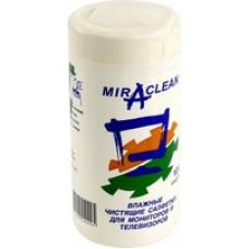 Чистящие салфетки в пластиковой тубе Miraclean 105шт для мониторов и телевизоров МТ 24099