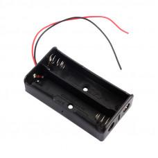 Корпус для аккумулятора 18650  2х c проводом