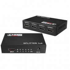 Разветвитель NO NAME SPLITTER 1 HDMI IN 4 HDMI OUT Cплиттер HDMI 1 in - 4 out 4К