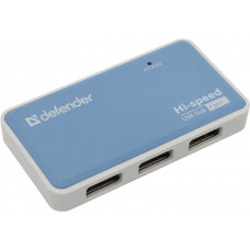 USB-разветвитель DEFENDER QUADRO POWER 83503 USB-разветвитель 4-port USB2.0  + блок питания 2A