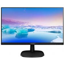 """Монитор 23,6"""" PHILIPS 243V7QDAB, IPS матрица,  разрешение 1920x1080, яркость 250 кд/м2, динамическая контрастность 10 000 000:1, время отклика 5 мс, углы обзора 178°/178°, стереоколонки 2x2 Вт, подключение DVI-D HDCP, HDMI, VGA D-Sub, аудио стерео 24"""