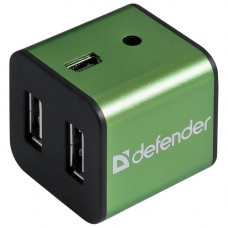 Разветлитель USB  DEFENDER  Quadro Iron USB2.0, 4порта,корпус—алюминий 83506