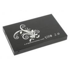 """Бокс для жесткого диска 2,5"""" пластиковый USB 2.0 DM-2508 черный"""