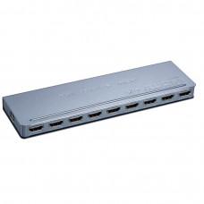 Разветвитель Orient HSP0108H-mini, HDMI 4K Splitter 1-8, HDMI 1.4/3D, UHDTV 4K3840x2160/HDTV1080p/1080i/720p, HDCP1.2, внешний БП 5В/1.5A, метал.кор HSP0108H-mini