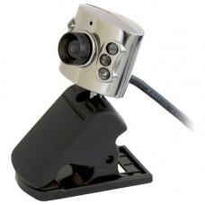 Веб камера RITMIX RVC-017M разрешение 1,3м пикселей, без драйверов, микрофон, черная, металлический корпус