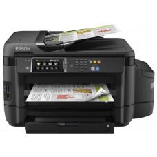 """МФУ струйное цветное EPSON L1455 принтер/сканер/копир/факс, """"фабрика печати"""", формат А3, емкость чернил 70мл каждого цвета, формат а4, 4-цветная печать, 32 стр/мин ч/б, 20 стр/мин цветн., автоподатчик на 35 листов, Поддержка EPSON iPrint, 4800x2"""