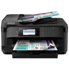 МФУ струйное цветное EPSON WorkForce WF-7710DWF, принтер/сканер/копир/факс формат а3, двусторонняя печать, 4-цветная, печать 32 стр/мин ч/б, 20 стр/мин цветн., разрешение принтера 4800x2400 dpi, разрешение сканера 1200х1200, автоподатчик оригиналов 3
