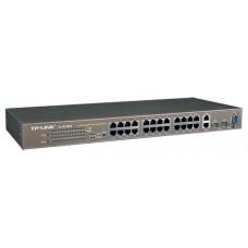 Коммутатор TP-LINK TL-SL3428 24+4G Gigabit-Uplink Managed Switch, 24 10/100M RJ45 ports, 2 10/100/1000M RJ45 ports, 2 SFP expansion slots supporting MiniGBIC modules, PORT Mirror/Trunking, PORT/Tag-based VLAN, Spanning Tree, 802.1X, IGMP Snooping, Co