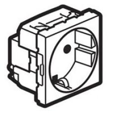 Розетка MOSAIC LEGRAND, немецкий стандарт, 3 х 2К+З с защитными шторками, в короб L631856