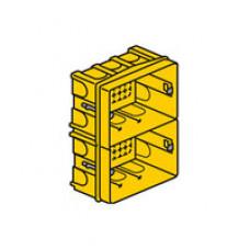 Коробка скрытого монтажа, для сухих перегородок, на 2 модуля