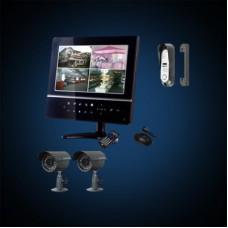 """Видеодомофон FALCON EYE FE-924KIT без панелей и камер Цветной 9"""" дисплей, Cенсорные кнопки Подключение 2-х панелей и 4-х камер Функция Hands free 2,5"""" SATA винчестер до 1Tb Технология компрессии H-264 Питание 12В Кабель для подключения камер и вызывн"""