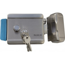 Электромеханический замок FALCON EYE FE-2369 Накладной электромеханический, универсальный, цилиндр + три ключа, блокируемая кнопка выхода, 142х105х35, 12 В FE-2369