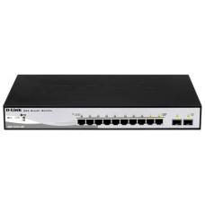 Коммутатор D-LINK DGS-1210-10  8 10/100/1000Base-T + 2 combo 1000Base-T/MiniGBIC SFP ports