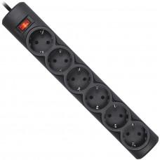 Cетевой фильтр DEFENDER 99496 DFS-155 черный, 6 розеток 5,0м