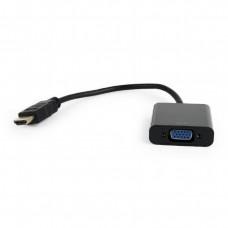 Переходник видеосигнала GEMBIRD A-HDMI-VGA-04 черный