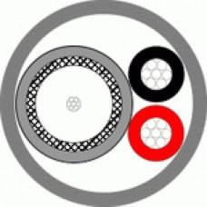 Кабель REXANT КВК-В 2х0,50М CU WHITE для видеонаблюдения, 200м, белый Технокабель
