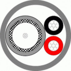 Кабель REXANT КВК-П 2х0,75M CU BLACK для видеонаблюдения , 200м, черный Технокабель