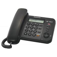 Проводной телефон PANASONIC KX-TS2358RUW WHITE АОН,Caller ID, 16-значный ЖК-дисплей с часами, русифицированная телефонная книга на 50 номеров, журнал входящих вызовов на 50 записей, спикерфон, блокировка набора, выключение микрофона