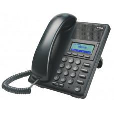 IP-телефон D-LINK DPH-120SE протоколы связи: SIP громкая связь Hands Free, подключение гарнитуры, встроенный черно-белый LCD-дисплей, порты: WAN, LAN, поддерживает 2 сервера SIP