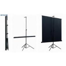 Экран на штативе CLASSIC GEMINI  1:1 180x180 T 172x172/1 MW-LU/B экран с возм.настенного кр.