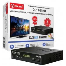 Приёмник для цифрового эфирного телевидения DVB-T2 D-COLOR  DVB-T2 DC1401HD, USB 2.0, HDMI и 3RCA, FULL HD