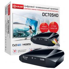 Приёмник для цифрового эфирного телевидения DVB-T2 D-COLOR DC705HD, HDMI, RCA, кабель RCA в комплекте