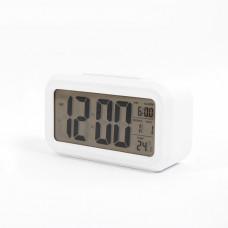 ЧАCЫ-БУДИЛЬНИК EC-137W Cигнал Компактные и стильные электронные часы с мягкой подсветкой дисплея. Работают в двух режимах: часы и будильник. Показывают дату и температуру воздуха