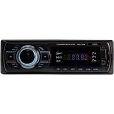 Автомагнитола AurA AMH-100W USB/SD ресивер:: 4х36W. Вход AUX 3,5 мм джек. Линейный выход RCA. Цифровой радио-тюнер. Память на 18 FM радиостанций.  USB/SD/MMC для воспроизведения Mp3. Несъемная панель. Белая подсветка.  Cветодиодный LED дисплей. ISO р