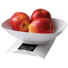 Весы кухонные POLARIS PKS 0323 DL БЕЛЫЙ 3кг.,1г.,сброс веса тары,подсветка дисплея. съемная чаша
