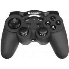 Геймпад беспроводной DEFENDER Game Racer Wireless G2 USB, радио, 12 кнопок, 2 стика 64 259