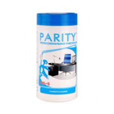 Чистящие салфетки в пластиковой тубе Parity 105шт универсальные  PТ 24060
