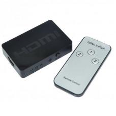 Разветвитель NO NAME SPLITTER 3 HDMI IN 1 HDMI OUT Коммутатор 3 HDMI in - 1 HDMI out с пультом
