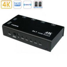 Коммутатор 4 HDMI in - 2 HDMI out с пультом