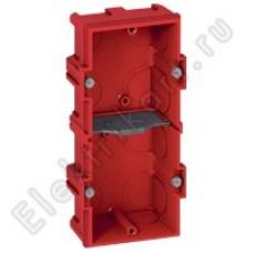 Коробка скрытого монтажа LEGRAND L89125, для кирпичной кладки, на 2 модуля