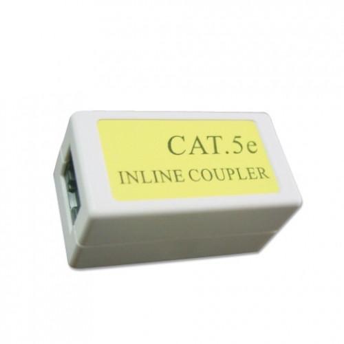 Cоединитель GEMBIRD NCA-LC5E-001, CAT 5E витой пары RJ-45 - RJ-45 проходной