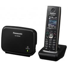 Телефон VOIP PANASONIC KX-TGP600RUB BLACK беспроводной VoIP-телефон, протоколы связи: SIP, поддержка стандарта связи DECT, громкая связь Hands Free, подключение гарнитуры, встроенный черно-белый LCD-дисплей, порты: LAN