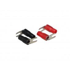 Клеммы акустические Aura ACN-S114 Вилка 2+ 2- Клемма силовая, вилка, угловая. Диаметр: 4,2 мм.  8Ga 8mm2.