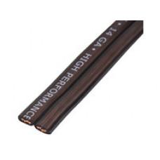 Акустический кабель  Kicx FC-1450 акустический плоский. 14GA, размер жилы 1,63мм21мм2, площадь 2,08мм2 , проводник 180,15мм42
